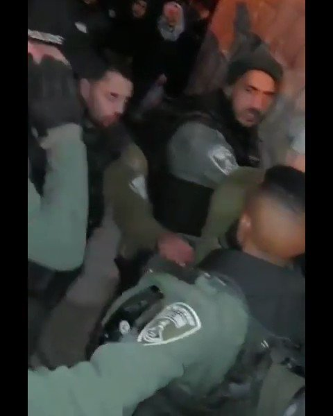 Palestinians were brutally attacked by the occupation forces after the fajr prayer at one of the Al-Aqsa gates.