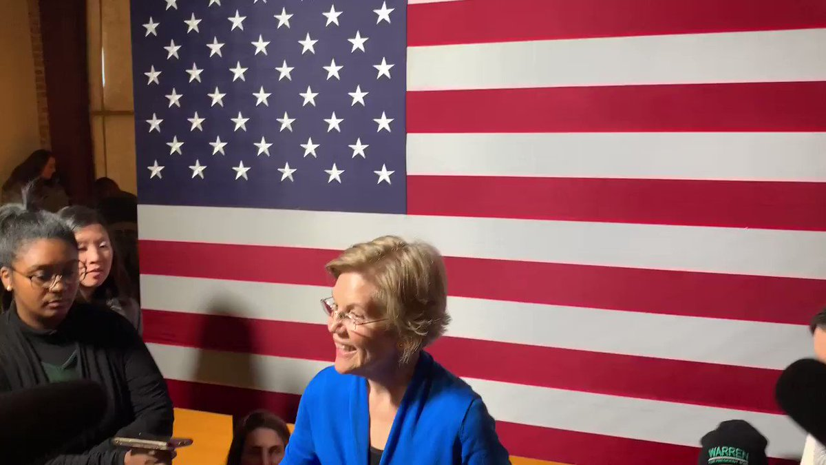 """Warren wants no part of this Bernie fight. Asked several different ways about Bernie, she says """"I've said what I'm going to say on this. I have no additional comment. I'm here in newton to talk about why I'm running for President."""" https://twitter.com/alxthomp/status/1217977099505610752…"""
