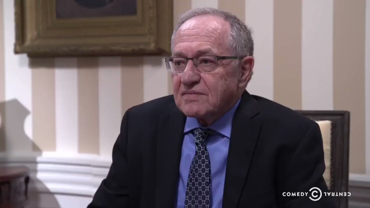 Here's just the Dershowitz clips from our @PresidentShow bit.