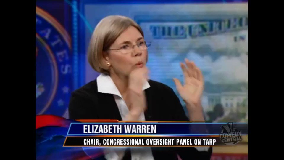 Elizabeth Warren was so nervous before going on The Daily Show in 2009, one of her first TV appearances, that she threw up repeatedly backstage. She shook off the stage fright, went on to absolutely annihilate GOP deregulation, and wowed Jon Stewart in the process. What a badass.