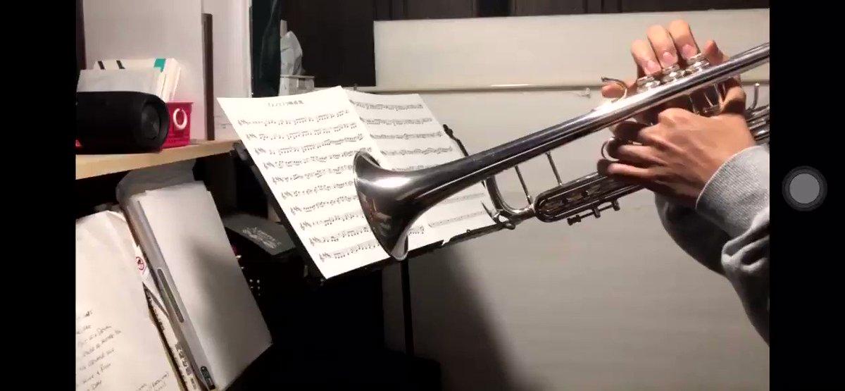 アスノヨゾラ哨戒班をトランペットで演奏してみました!RTしていただけると泣いて喜びます。#私を布教してください #トランペット