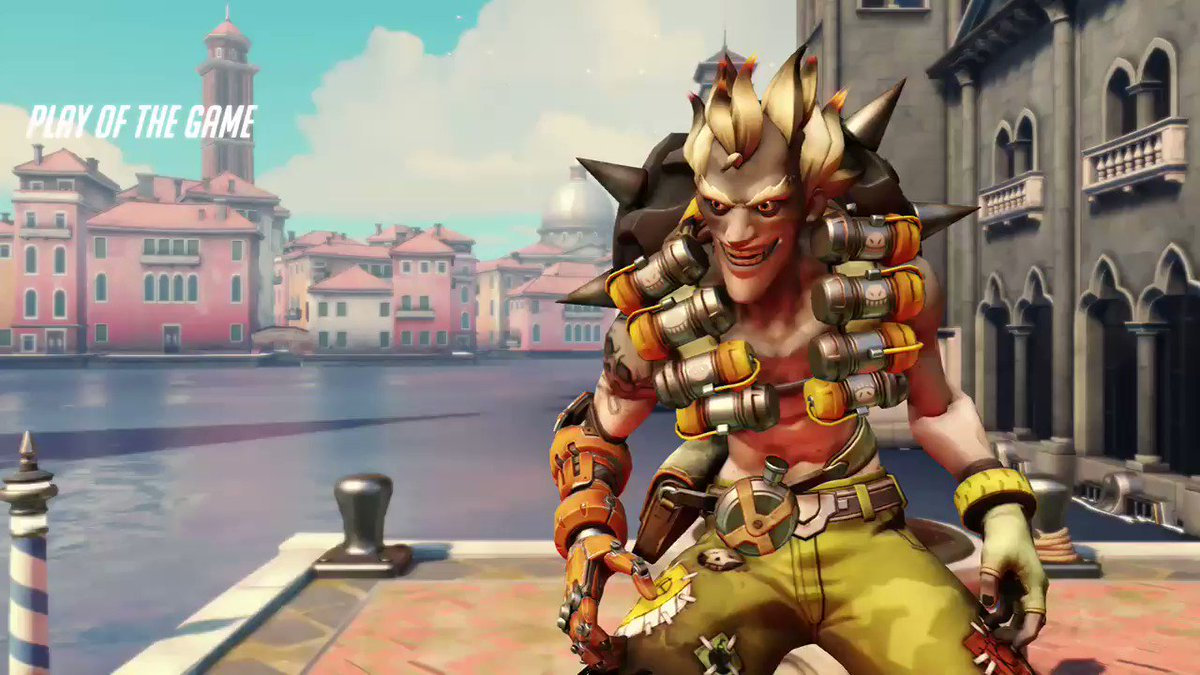6 Man Rip-Tire. This was one of my first games back in over a year. #overwatch #Junkrat