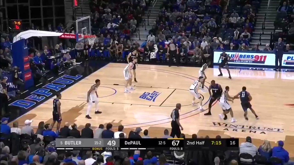 'We can beat anybody': DePaul stuns No. 5 Butler 79-66 behind Paul Reed's 23 points