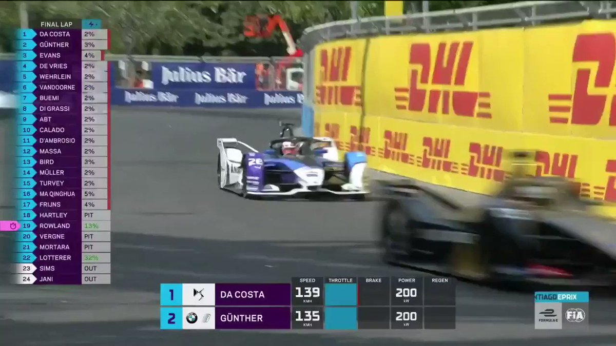 THE PASS for victory by @maxg_official! 🤩 #RacingBeyond #BMWi #BMWiMotorsport #ABBFormulaE #SantiagoEPrix