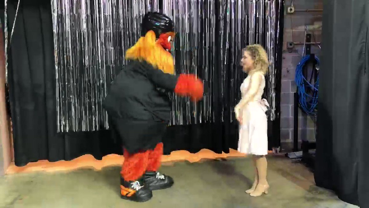 Only Gritty puts baby in a corner.