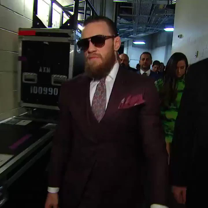 Conor has arrived!!!!!! #UFC246