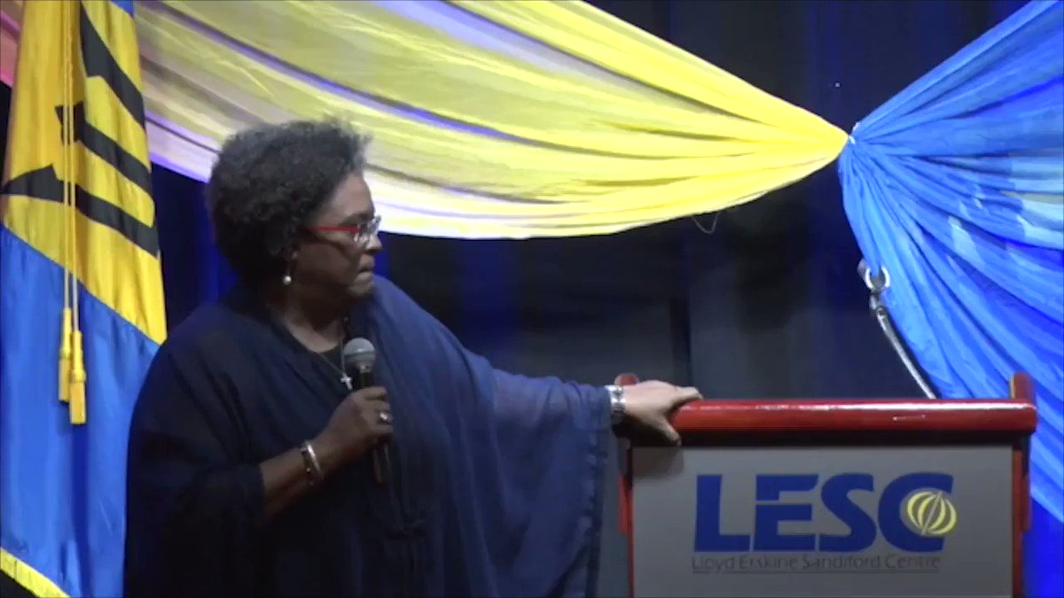JUST IN - US ATTEMPT TO DIVIDE CARICOM? - CARICOM Chair & Barbados PM Mia Mottley speaks on US Secretary of State Mike Pompeo's meeting with some CARICOM states on Tuesday in Jamaica - remarking that if some states are invited & not all, it is an attempt to divide CARICOM (OPM)