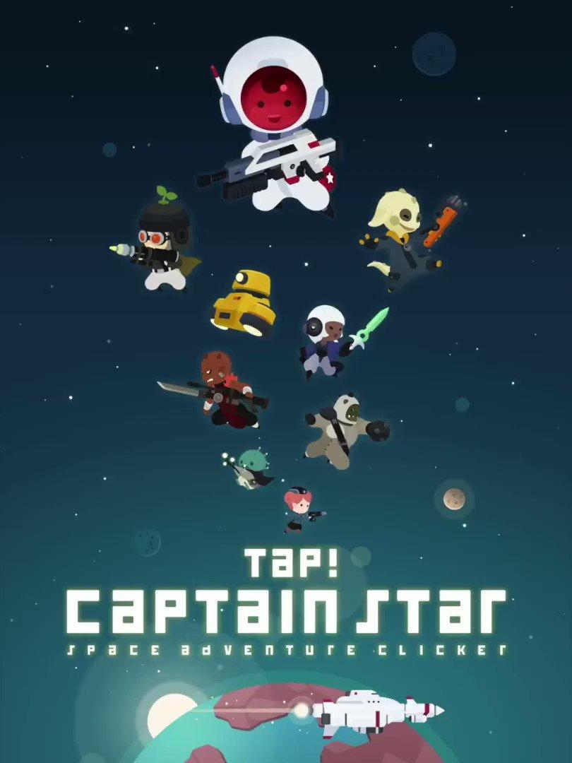 [タップ! キャプテンスター]は敵を排除するために出ています。 タップして手伝ってください!Play iOS 🍎 Play Android 🤖 #games #gamer #gamedev #indiedev #captainstar