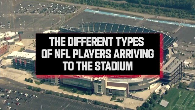 All the different types of NFL players arriving to the stadium 😂😂😂 @thecheckdown @TwitterSports