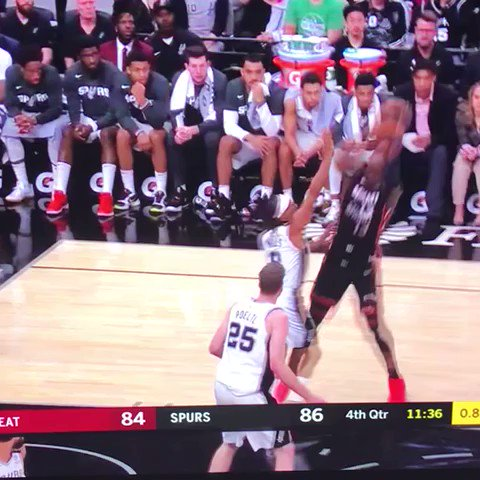 Jakob Poeltl forgot to box out Derrick Jones Jr. He chose...poorly.