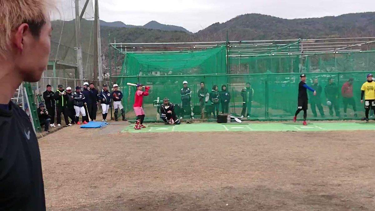 オリックス山岡選手ピッチング スライダーハイスピードカメラ