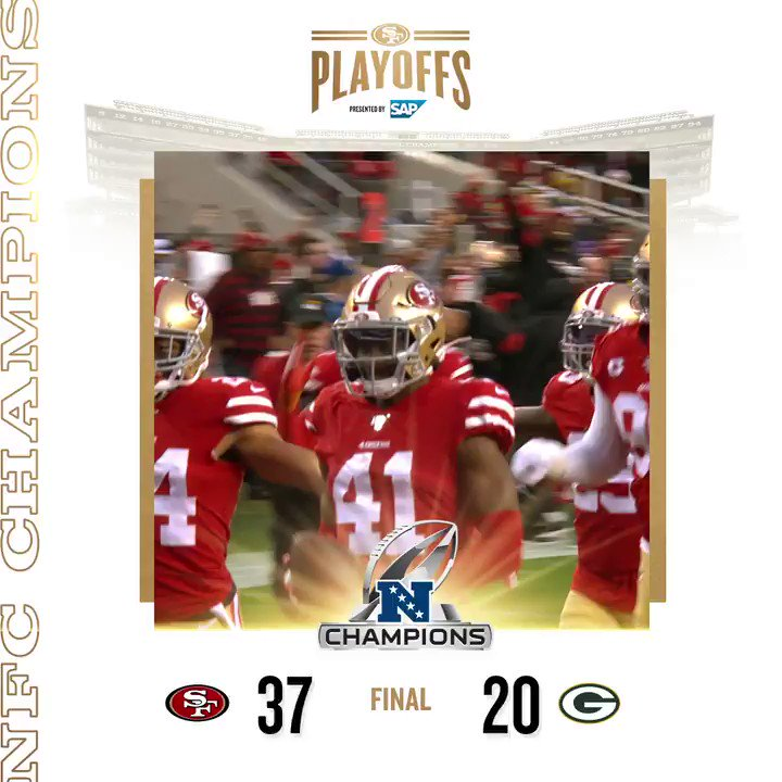 THE 49ERS ARE NFC CHAMPIONS ‼️