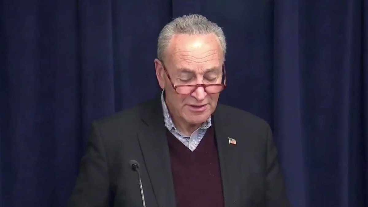No, @SenSchumer. The president is not afraid of the truth because the truth—as we showed in the House—is on his side. Its time to finish the trial and move on. #ShamImpeachment