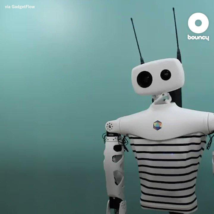 天空の城を守るロボット兵? 上半身だけの万能ロボ from @pollenrobotics via @GadgetFlow 詳しくはこちら👉#CES2020 #FrenchTech #humanoids #ロボット