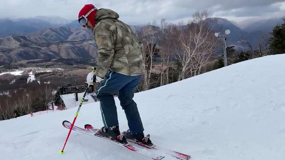 元アルペンスキー日本代表のSHOヤクブーツはやめろが魅せる2020年初滑り