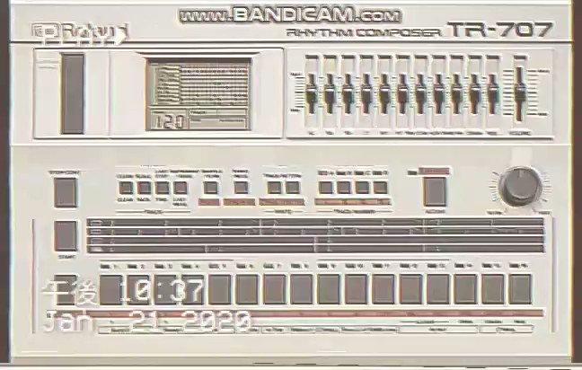 【#オリジナル曲】Power of powerのドラムトラックが以外にも好評だったので、ドラムトラックだけのショートムービーにしてみました。↓演奏ありはYouTubeで❢#TR707 #Synthwave #Roland #DrumMACHINE #作曲 #オリジナル曲 #DTMerと繋がりたい #DTMer #DTM