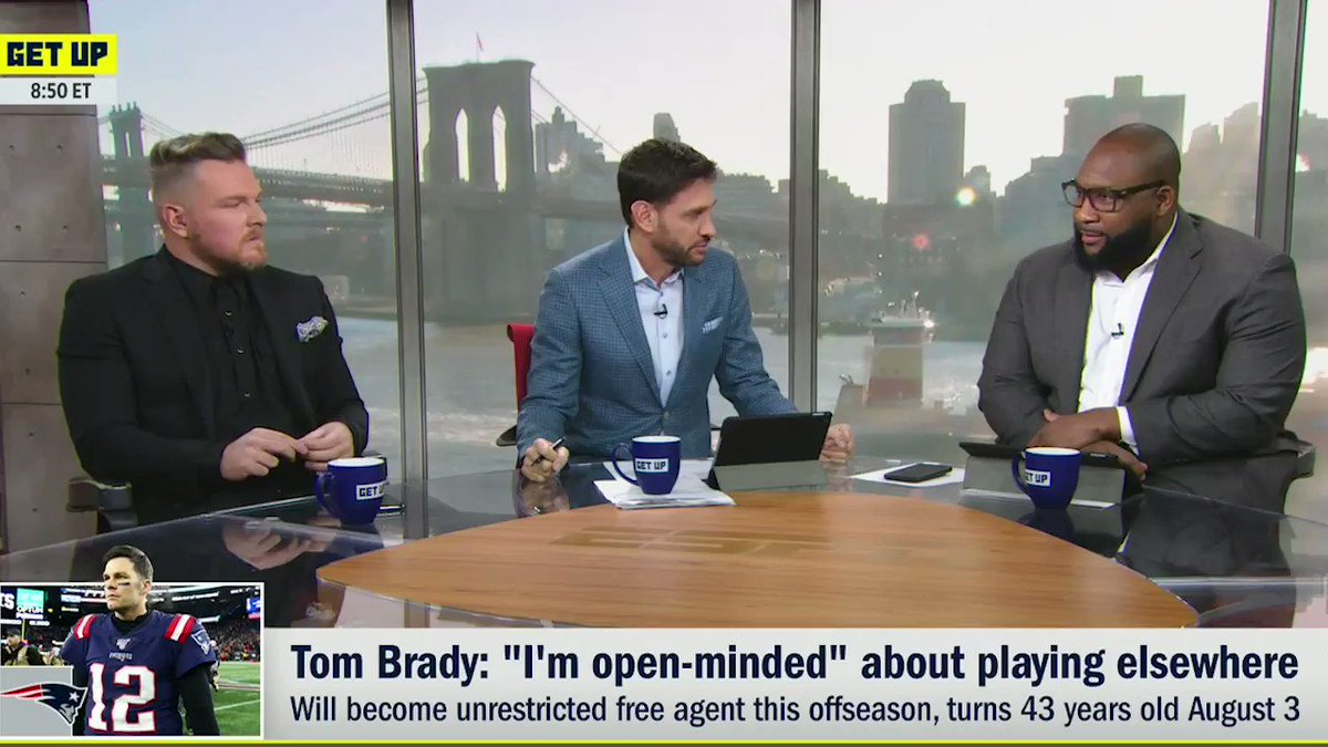 TAKE GISELE TO THE DAMN BEACH, TOM! @mspears96 on why Tom Brady should be playing in Cali is TV gold 😂😂😂