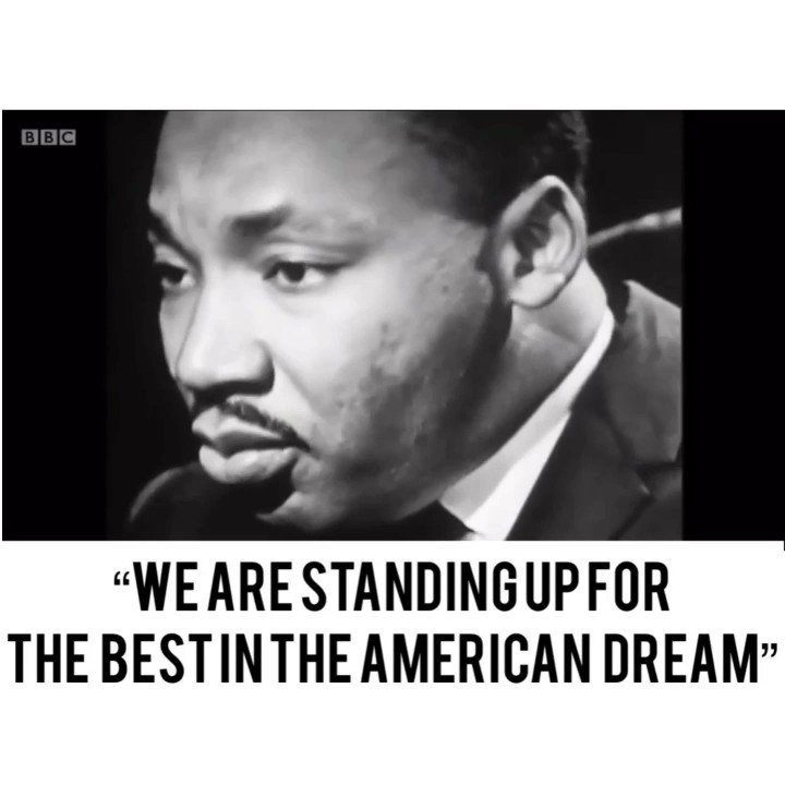 Dr. King embodied the American spirit. He challenged America to live up to the ideals of the founding, that all men are created equal. God bless America on this #MLKDay