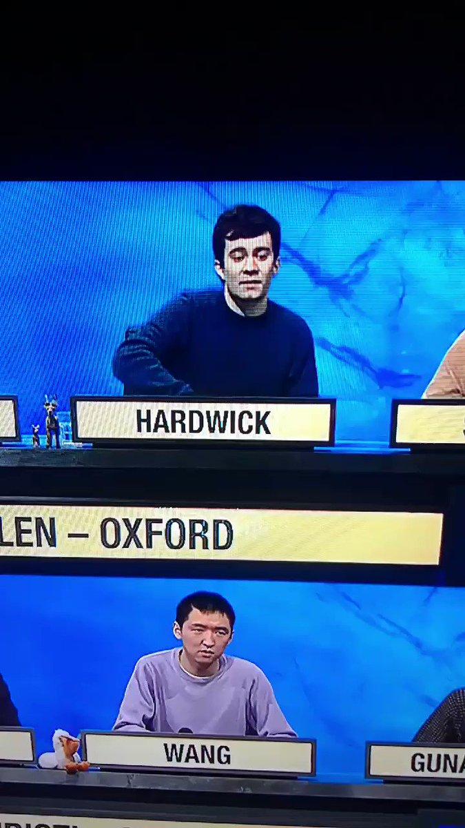 The pain of Hardwick #UniversityChallenge