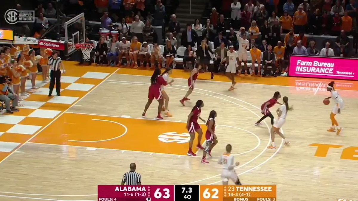 Rennia Davis really pulled up from the logo to win the game 🤯🤯🤯 @LadyVol_Hoops (via @SECNetwork)