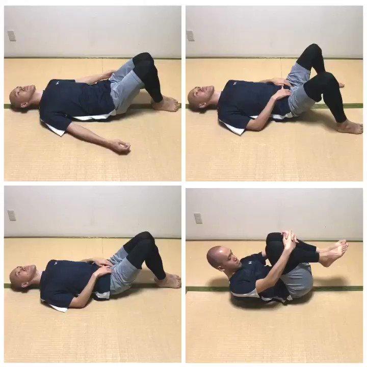 太りやすい痩せにくいぽっこりお腹が気になる腰が痛い股関節の動きが悪いそんな人はもしかしたら骨盤が歪んでるかもしれないこの4つの骨盤矯正の体操で骨盤をしっかり整えてくださいねー!1つ30秒〜1分程度やっていきましょう!