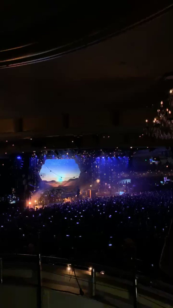 It begins! #ColdplayPalladium