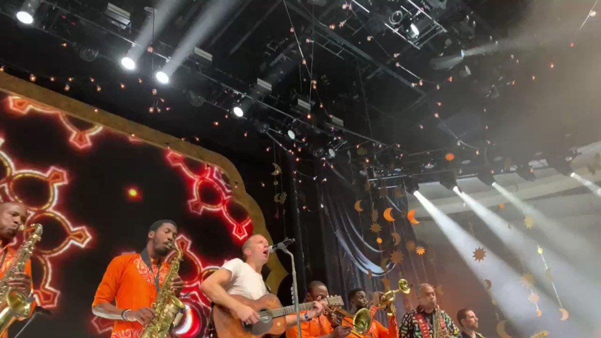 Arabesque. #ColdplayPalladium