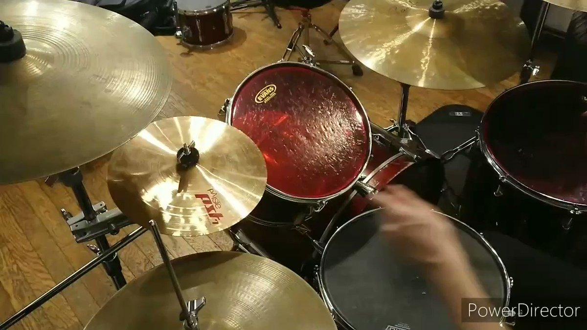 DECO*27さんのヒバナ叩いてみました。実に聞こえずらい。録音機器欲しいかも。(1時間クオリティ)#叩いてみた#DECO27#ボカロ#ドラム