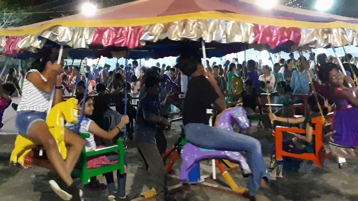 This hand-operated merry-go-round is not from a carnival. We found this in a school that cares about preserving the culture and tradition of our country.#merrygoround #culture #tradition #pongal #makarsankranti #celebration