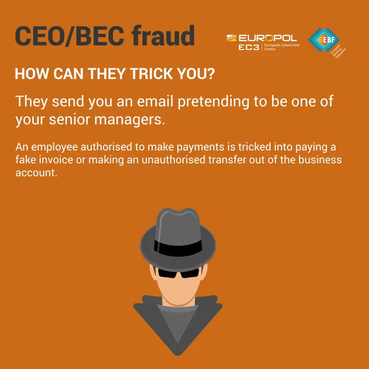 Image for the Tweet beginning: Don't fall for #BEC Fraud