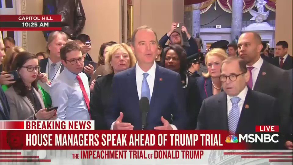 Adam Schiff says McConnell hid the impeachment trial rules because they don't allow for a fair trial.