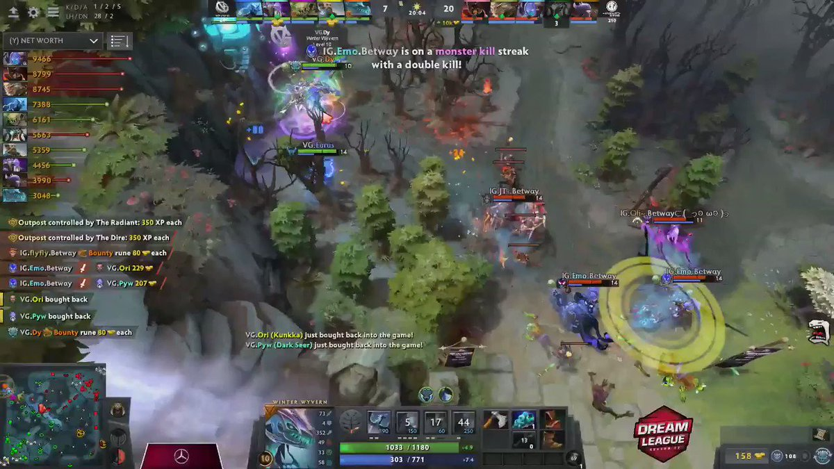 betway DOTA 2 - TEAM WIPE from @invgaming with the beautiful Echo from Kaka coming out of nowhere! #DHDL13
