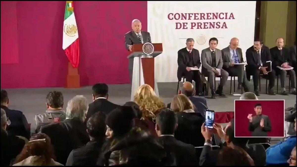 Image for the Tweet beginning: 🔴El Presidente #AMLO se comprometió