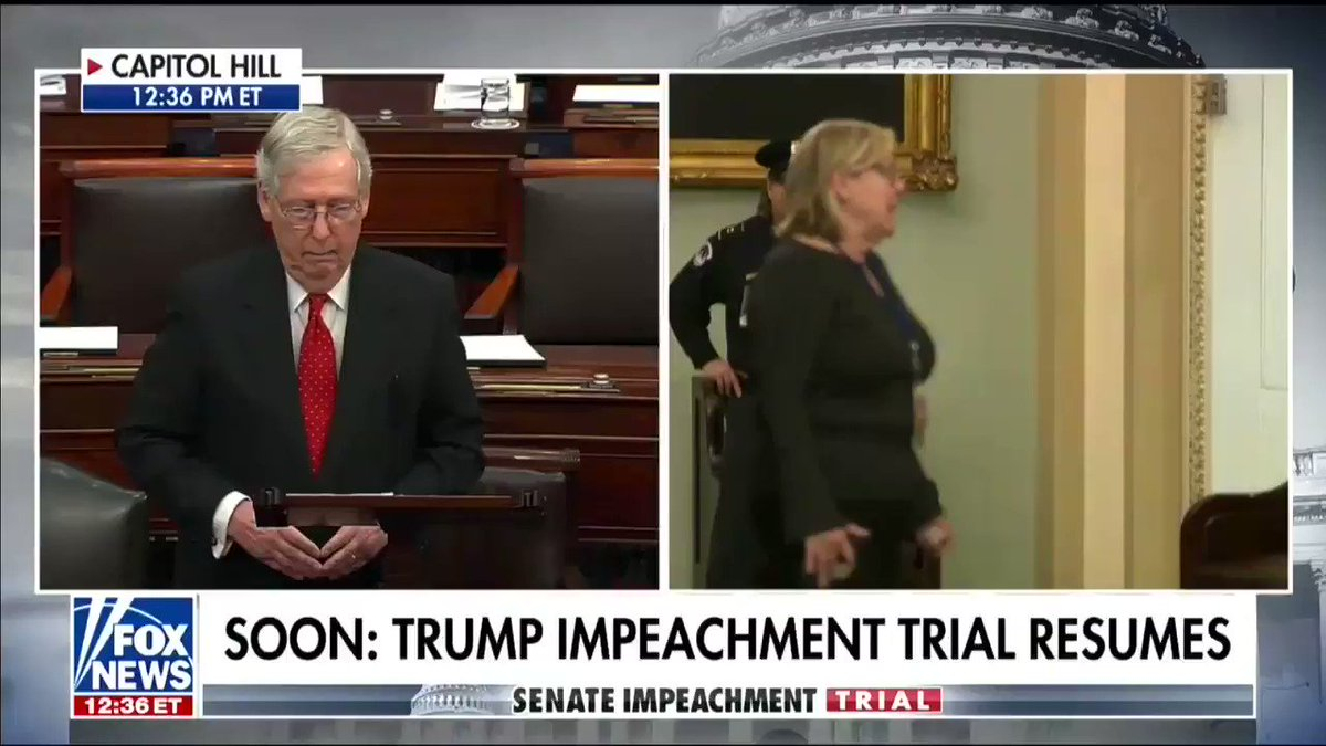 """""""The Senate's fair process will draw a sharp contrast with the unfair and precedent-breaking inquiry that was carried on by the House of Representatives."""" -@senatemajldr"""