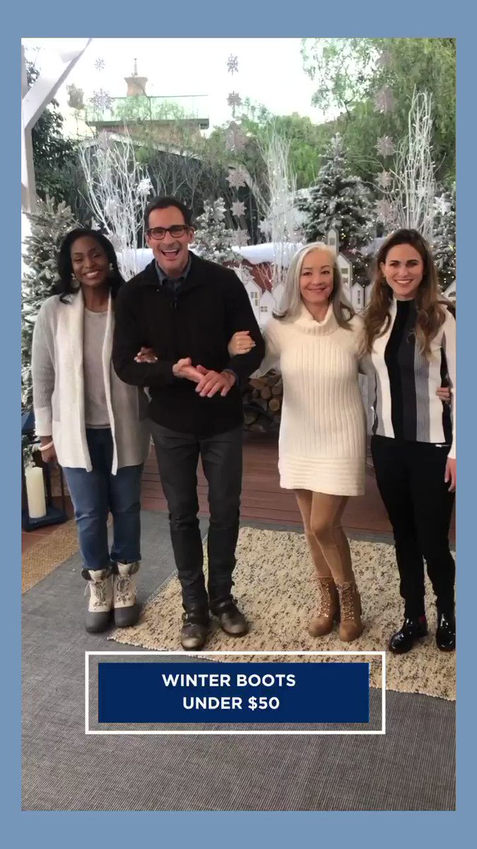 .@lawrencezarian has boots made for walking through #Winter! Join us TOMORROW at 10am/9c on @hallmarkchannel.