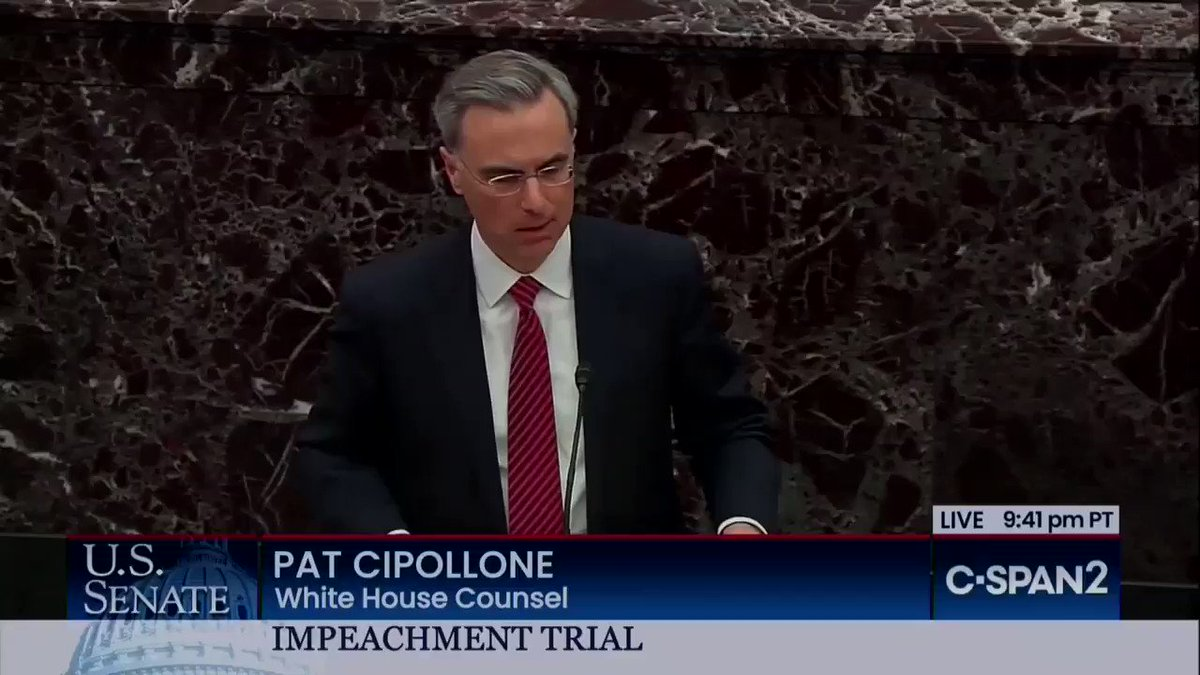 Trump Impeachment Lawyer Utters 'Biggest Lie Ever' Told On Senate Floor