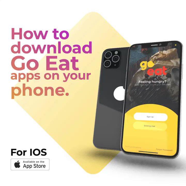 Aplikasi Go Eat kini boleh dimuat turun di iOS Apple Store dan Google PlayStore. Anywhere. Anytime. Jom download hari ini! 🖤💛 #goeatmy #letsgoeat #goeatmalaysia #fooddelivery #homecooking #helloyellow