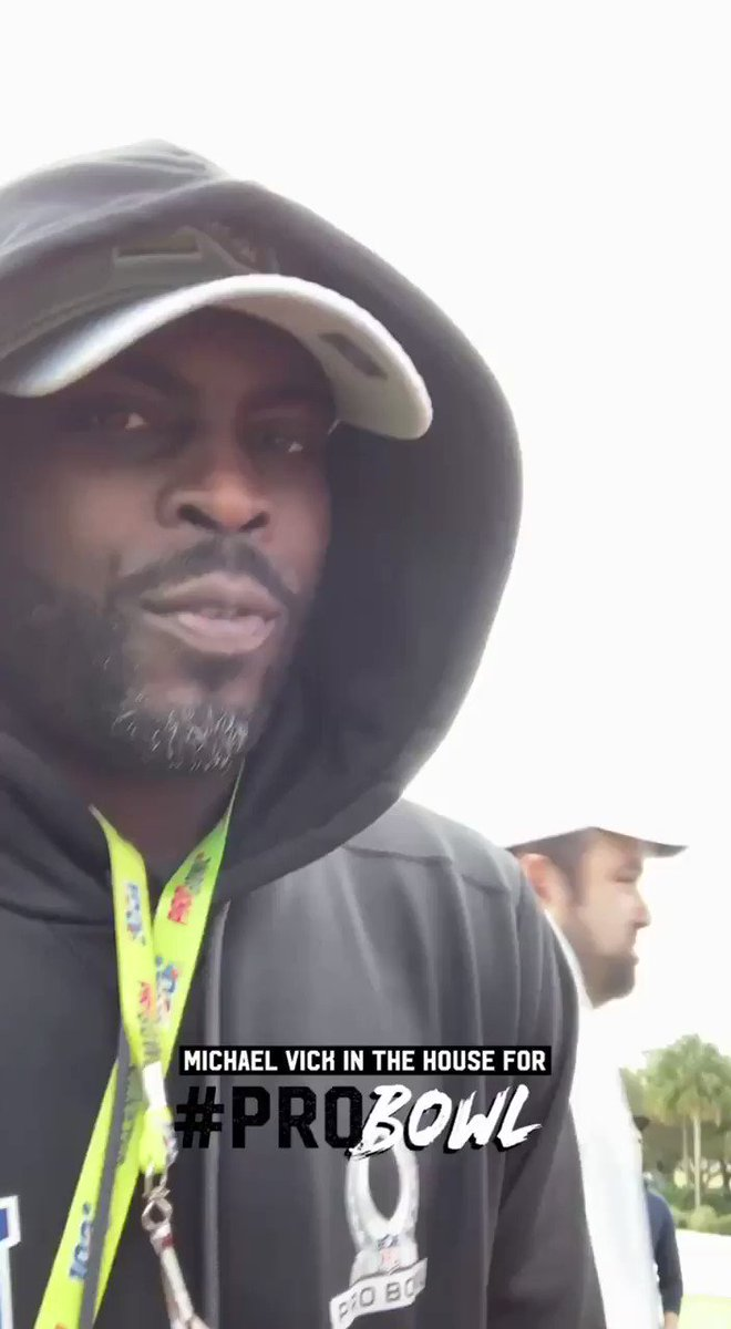 Coach @MichaelVick is in the house for the #ProBowl2020!