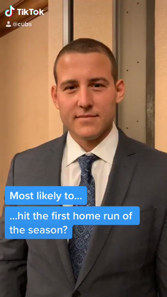 It's unanimous.  @ARizzo44 is voted most likely to ...