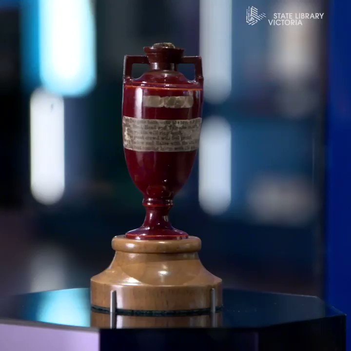 📆 There's just one month left to visit the Ashes Urn before it heads back to the @HomeOfCricket 🏏 We've also partnered with @CricketAus to give away a 2002/2003 #Ashes cricket bat signed by @ShaneWarne @RickyPonting and Steve Waugh.👉 Details here http://slv.vic.gov.au/via