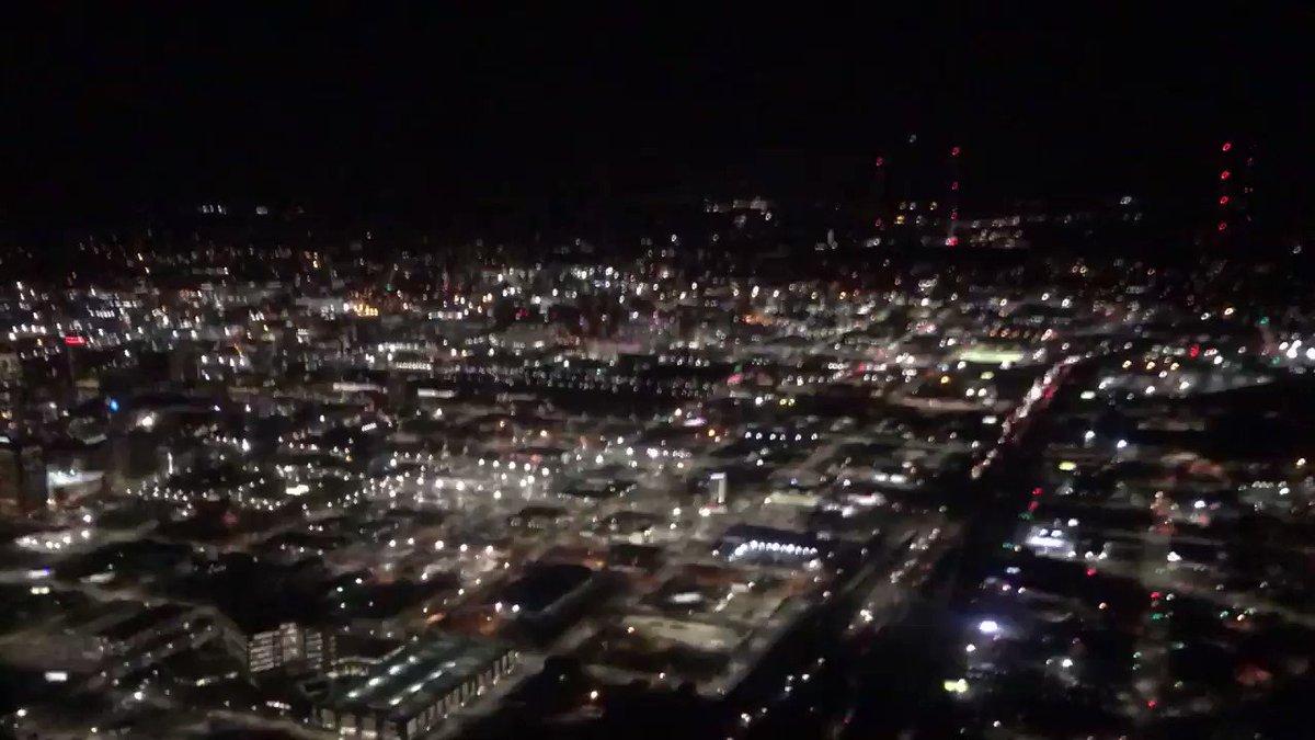 Amazing view of downtown #Birmingham and the new 59/20 bridge! @weswyattweather @spann @jpdice_Fox6 @AdrianWVTM13 @Nate_HH @GriffinHardyWX @WBRCnews @abc3340 @WVTM13 @CBS_42 #BigBuild #Bridge #Interstate @Delta