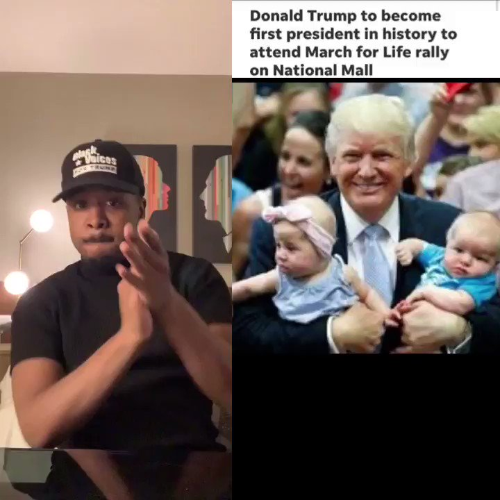 .@realDonaldTrump will be the first President in history to attend the March For Life rally! He is fighting a bogus impeachment, fighting for all Americans & fighting for the unborn! Some say my mom should have aborted me instead of letting me go to foster care! Glad I'm here