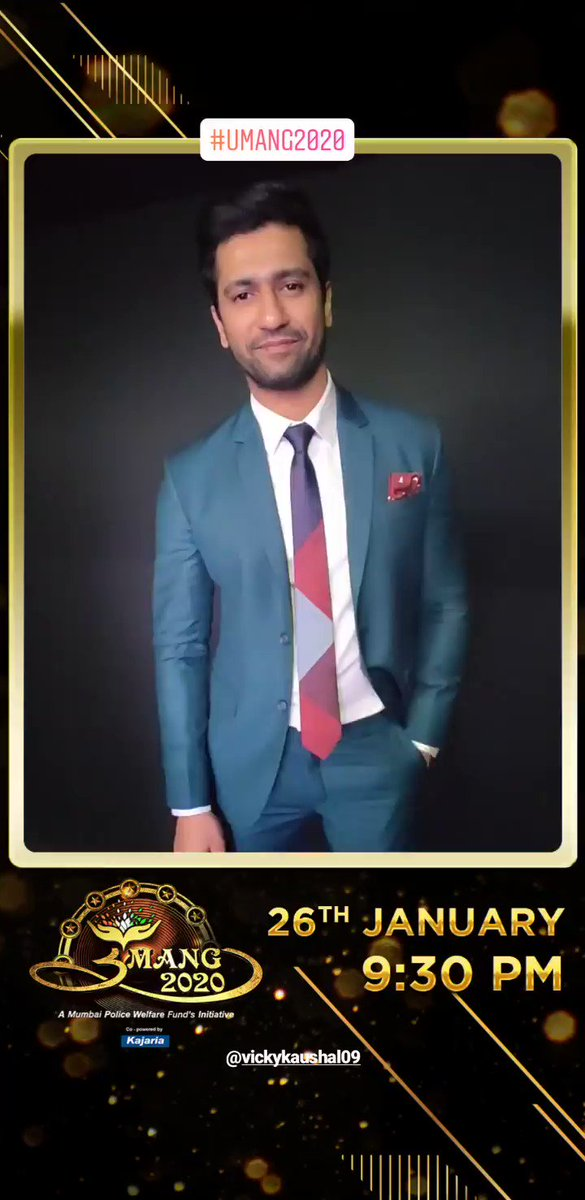@vickykaushal09 #VickyKaushal Don't forget to watch him on @SonyTV #Umang #Umang2020 at 9:30 PM ❤️