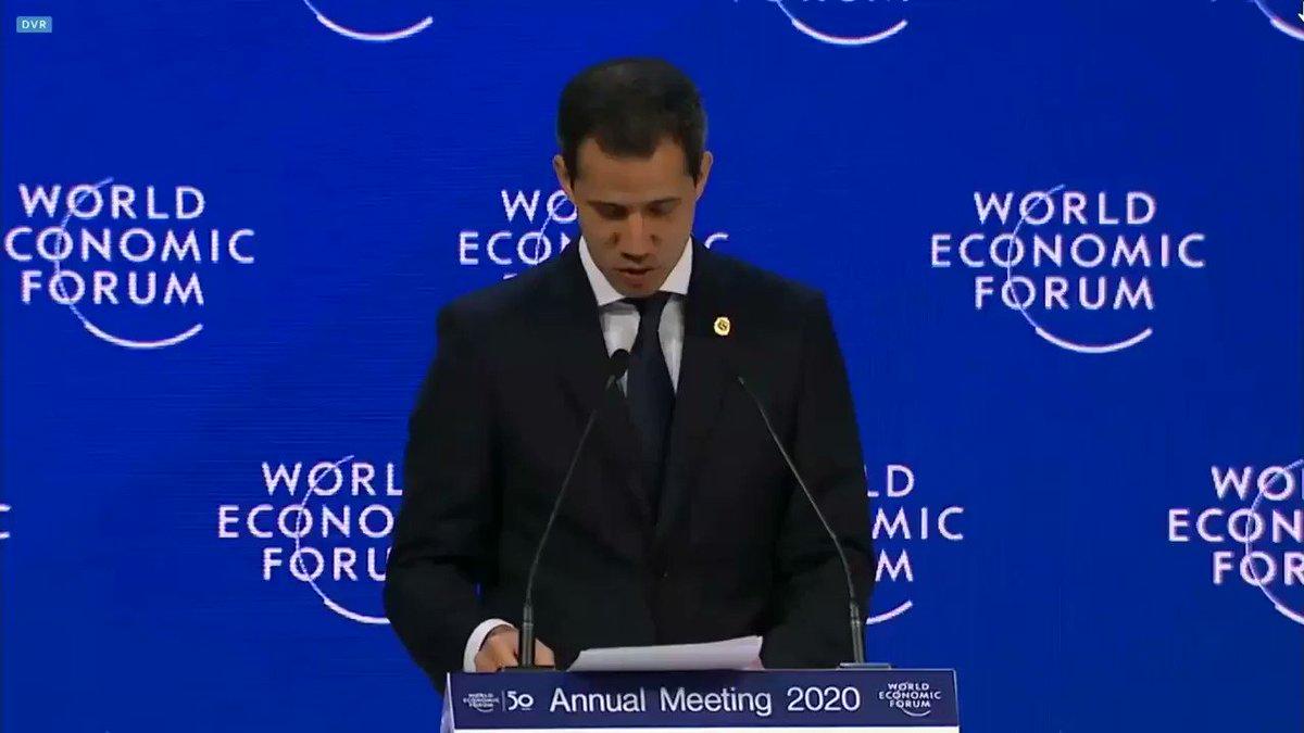 Agradecemos el reconocimiento que hizo en #WEF2020 el Presidente de Venezuela, @jguaido, al apoyo solidario que les hemos dado a los hermanos del vecino país, que han tenido que huir de la dictadura. Nuestro respaldo al llamado que hizo para que el mundo no deje sola a #Venezuela