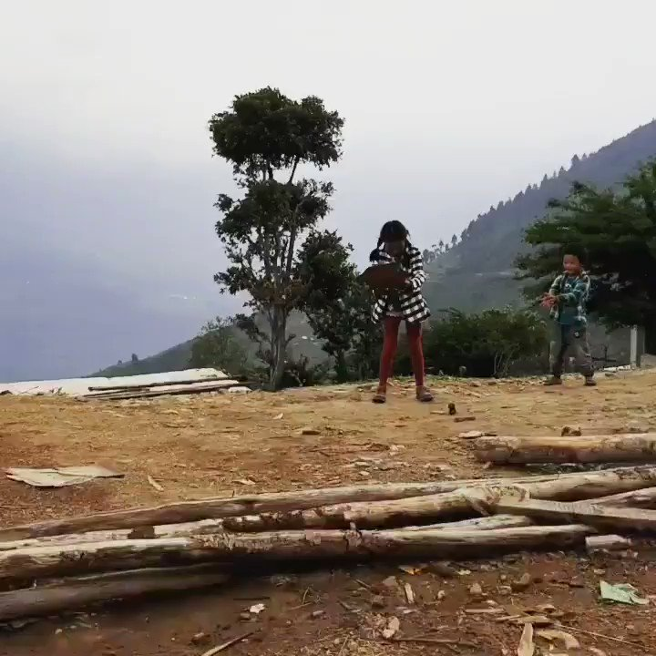 Playing a new #game in the #HimalayasIs it #dodgeball or #Cricket...Does it matter, as long as you #play ?#playtime #Nepal #Magic#memories