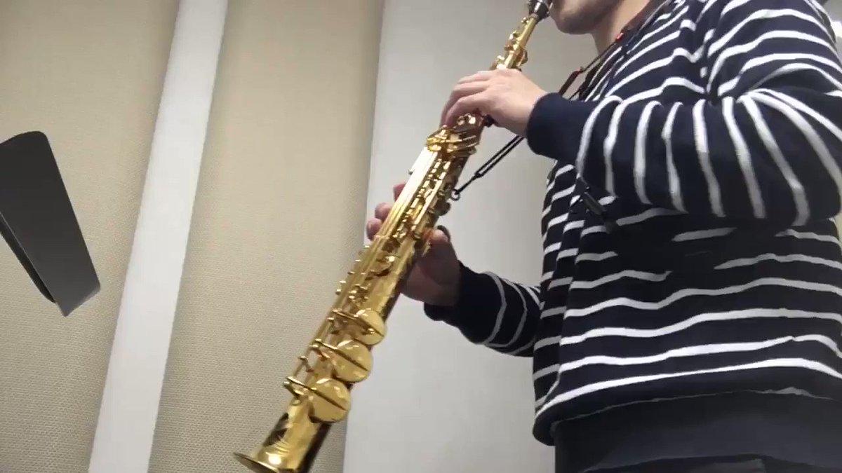 今度コンサートで初出しのソプラノサックスとピアノのための曲 『recitation』を試し撮りしてみました! 元はトロンボーンとピアノの曲でしたが今回はソプラノ用にフレーズを変えた版で演奏します!