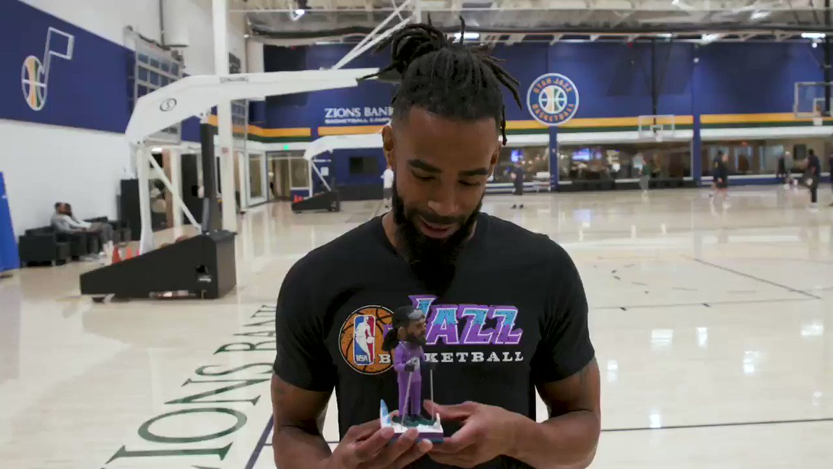 What is #MountainMike? 🏔 #GoodVibes  Get your Mike Conley bobblehead today at http://slcstars.com/ConleyBobble or call http://801.325.STAR! 🎿  @MCONLEY10 // @utahjazz