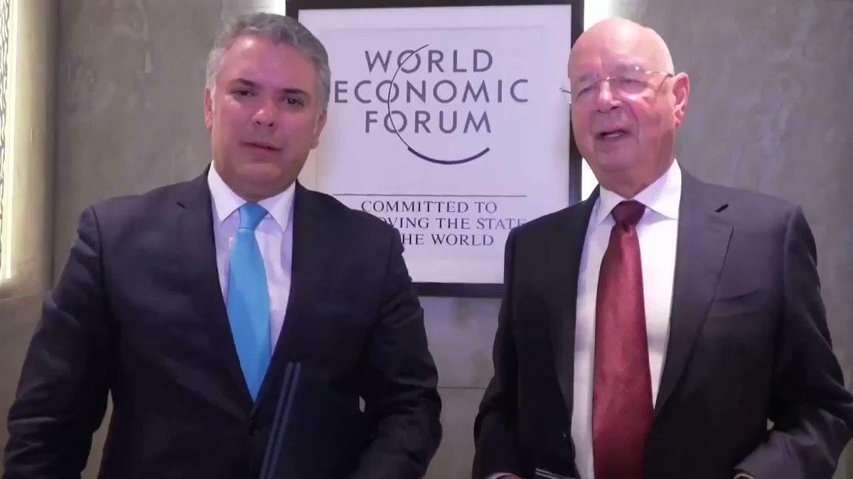 Tuvimos una gran reunión en #Davos con el profesor Klaus Schwab donde logramos para Colombia la sede del Foro Económico Mundial capítulo Latinoamérica para el año 2021. Sigue adelante la confianza en Colombia como destino para la inversión.