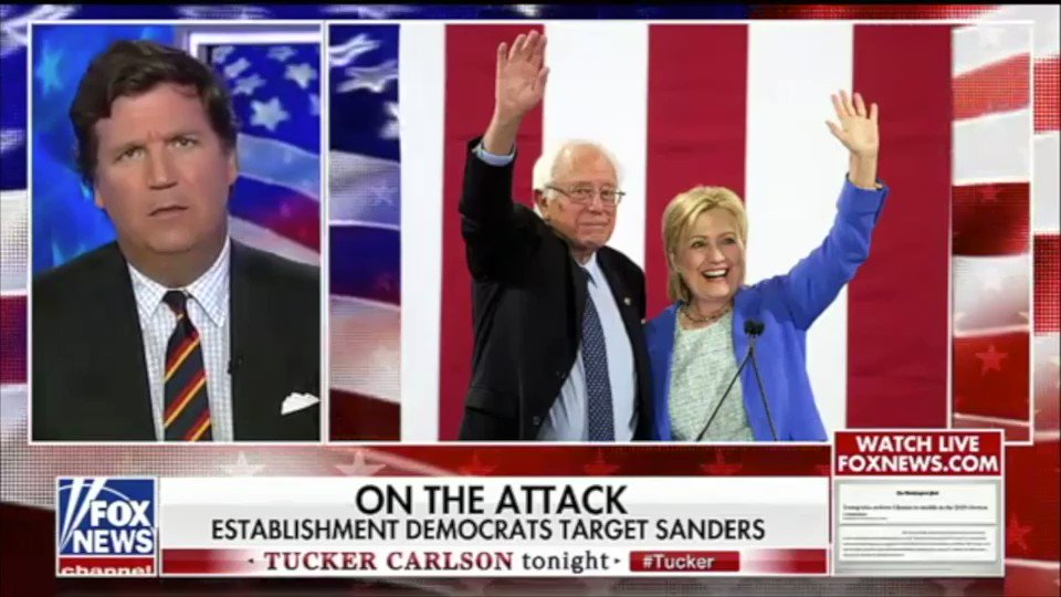 I tell @TuckerCarlson that @BernieSanders should learn from Jeremy Corbyns loss in the UK: fight back You cannot succeed as a progressive candidate if youre willing to throw your allies under the bus & bend to the mainstream media & political establishments dishonest attacks