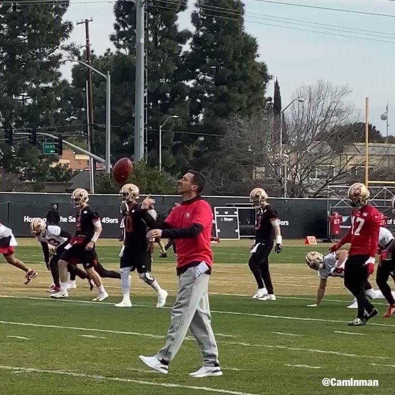 Stretching, it does the body good. #GoNiners #TheNFCisntEnough #BrickByBrick #BeLegendary🙏 #1MoreToGo49ers #QuestFor6🏆
